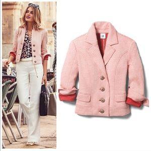 Cabi Amelia Jacket Blazer 5301 Cotton Red Pink L